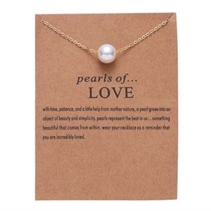 Jewelry - Gold Pearls of love necklace 4 for $20